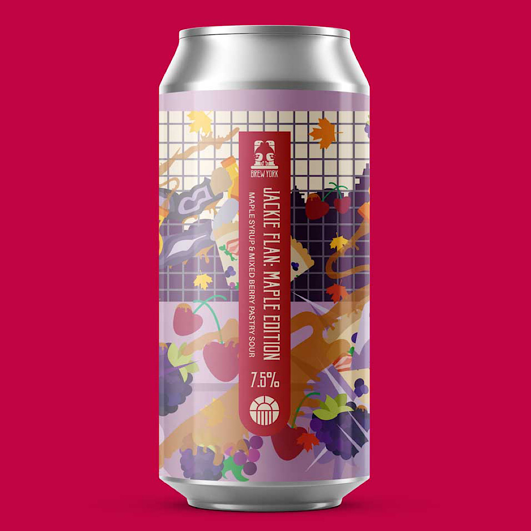 Jackie Flan: Maple Edition - Maple Syrup & Mixed Berry Pastry Sour 7.5% 440ml Brew York