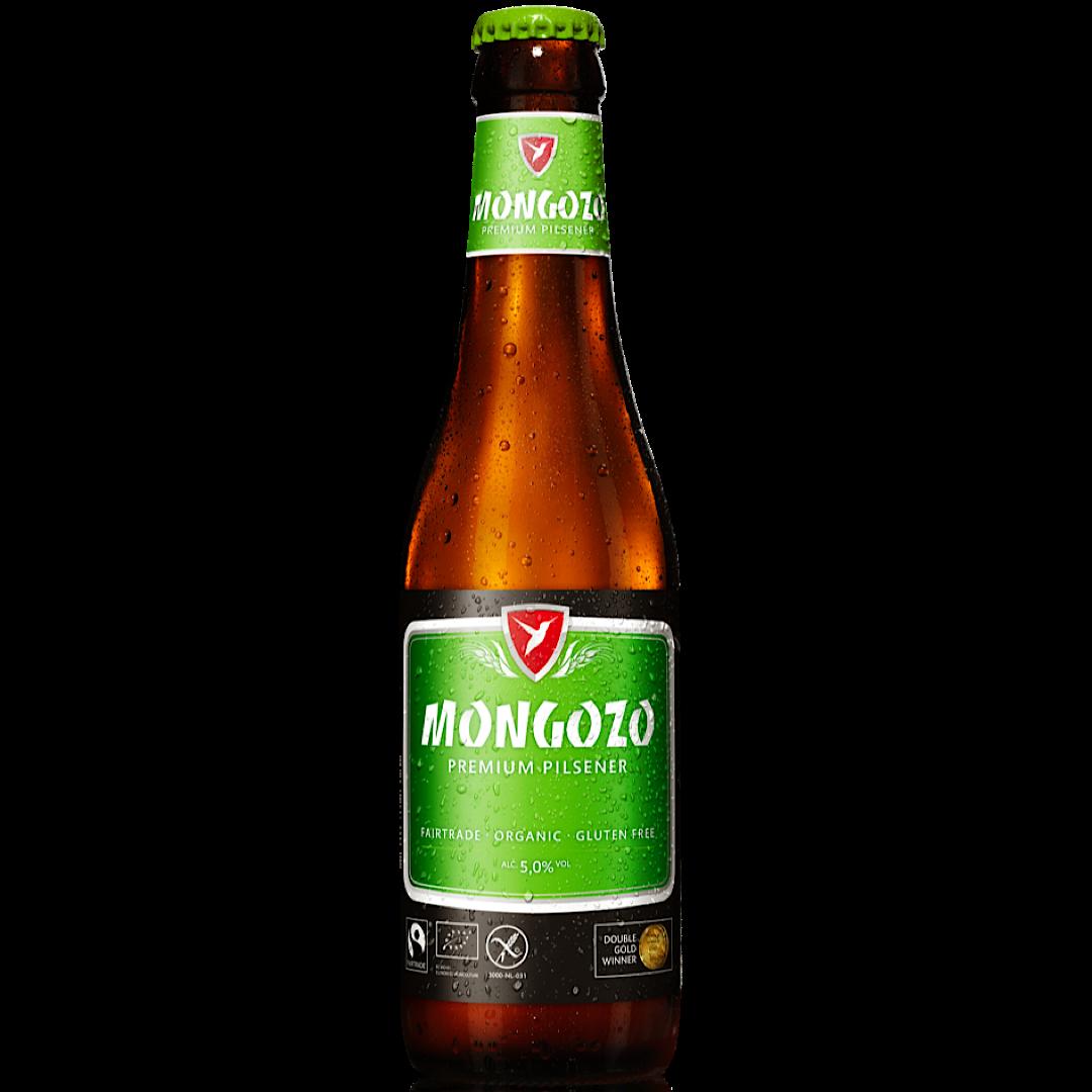 Mongozo Premium Pilsener 5% 330ml - Gluten Free - Organic - Fairtrade