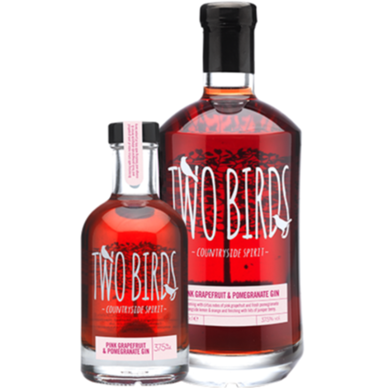 Two Birds Pink Grapefruit & Pomegranate Gin 37.5%