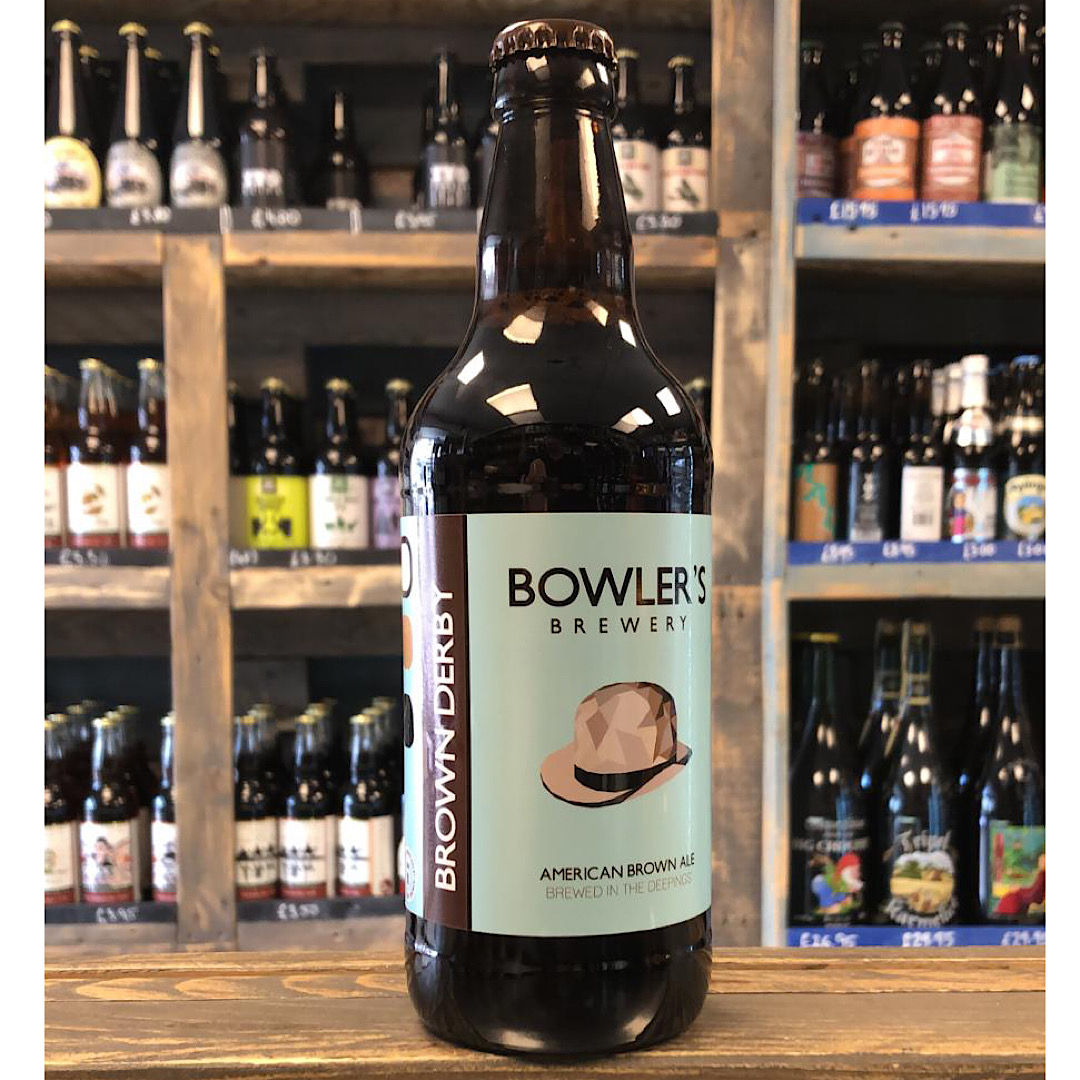 American Brown Ale - Brown Derby 4.8% 500ml Bowlers Brewery