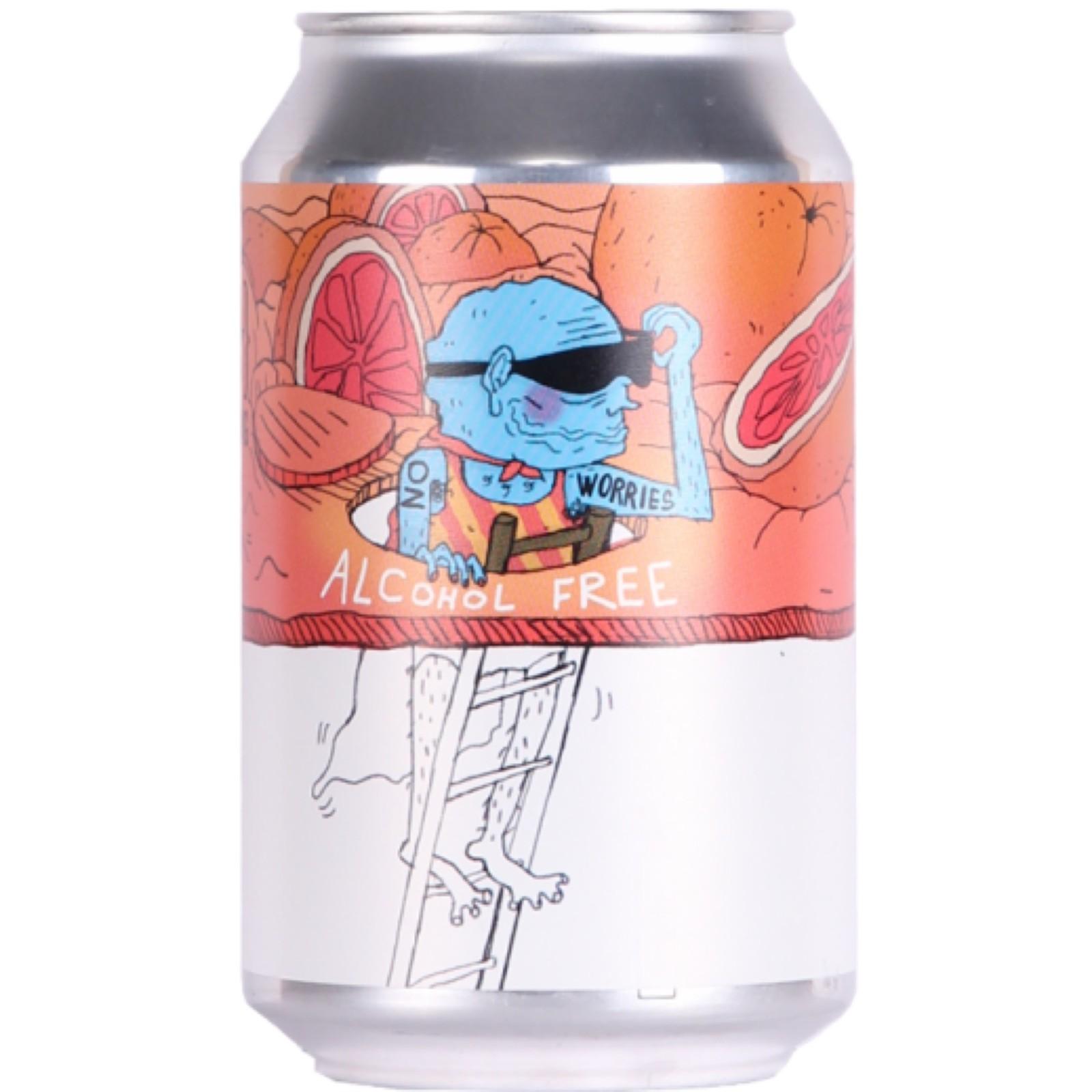 No Worries Grapefruit Alcohol Free IPA 0.5% 330ml Lervig Brewing