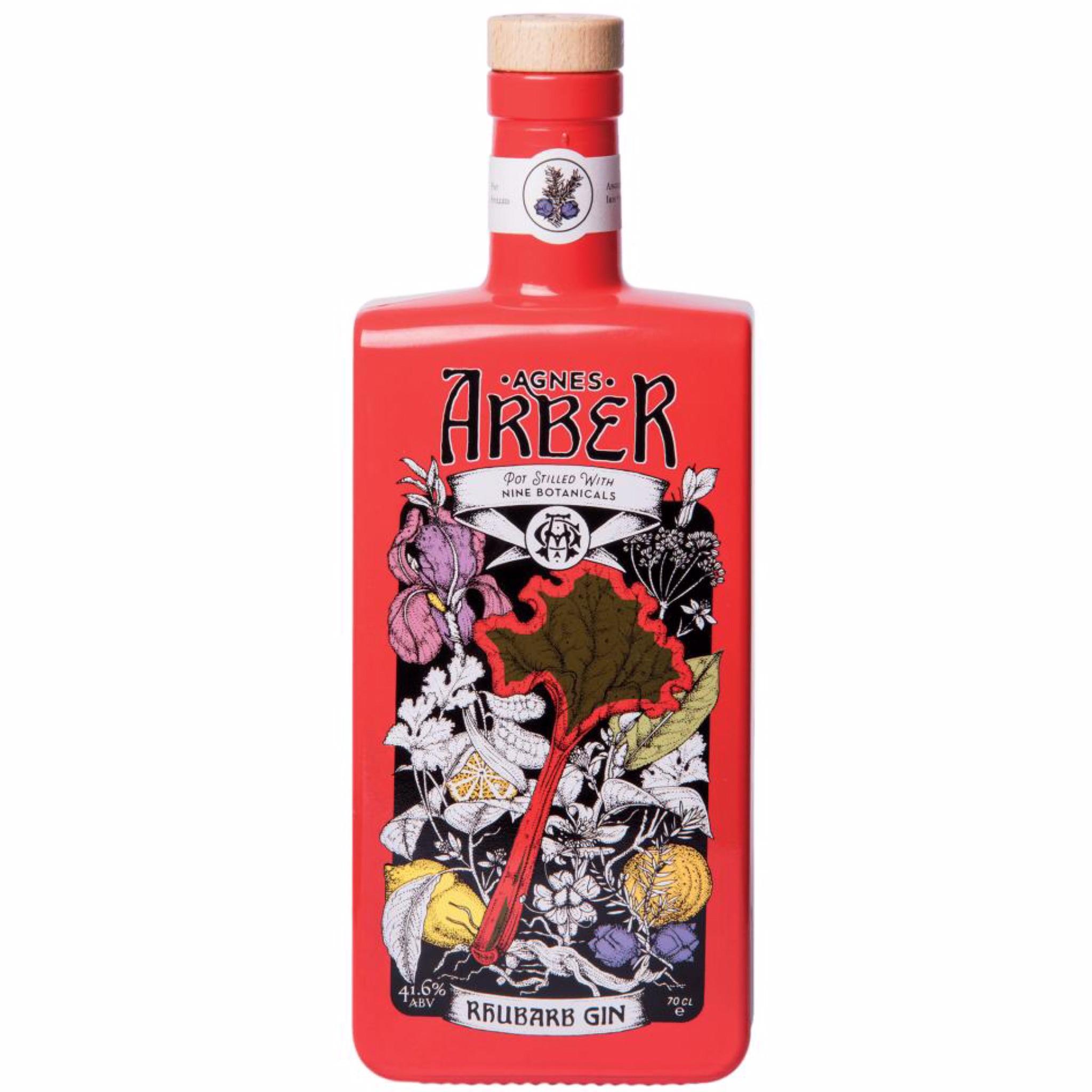 Agnes Arber Rhubarb Gin 41.6% 700ml