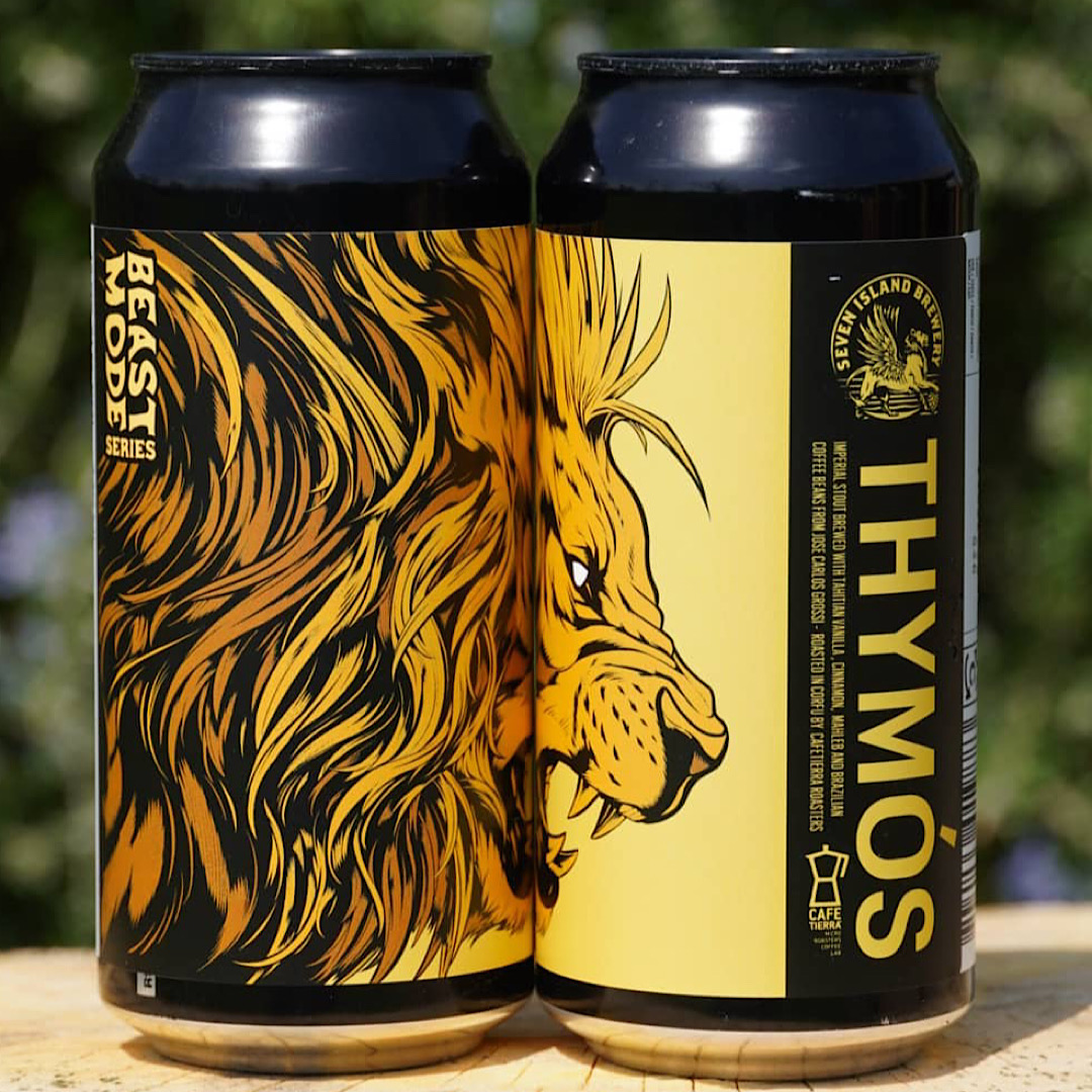 THYMOS - Imperial Stout with Vanilla, Cinnamon, Mahleb & Brazilian Coffee 12% 440ml Seven Island Brewery