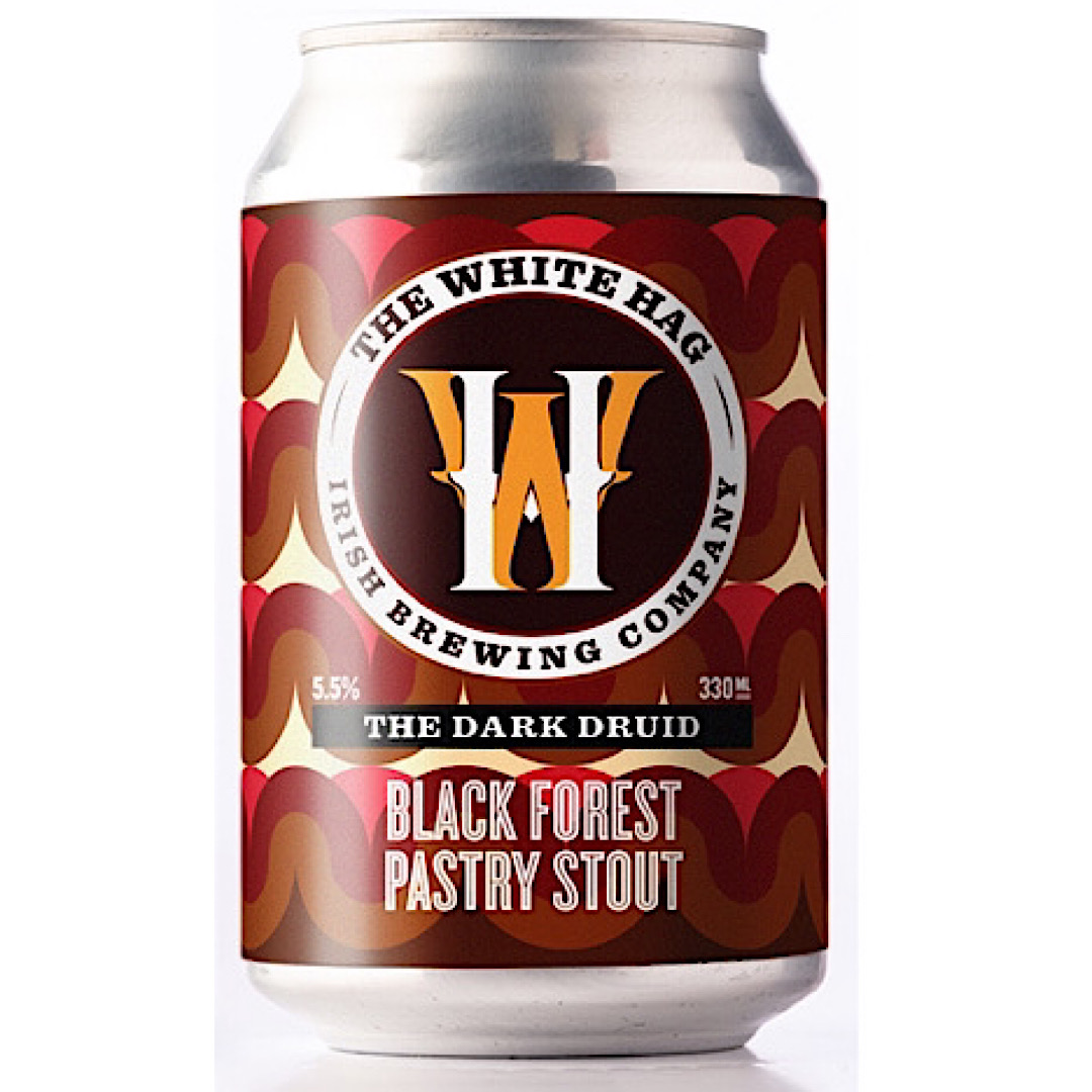 The Dark Druid - Black Forest Pastry Stout 5.5% 330ml The White Hag Brewing Company