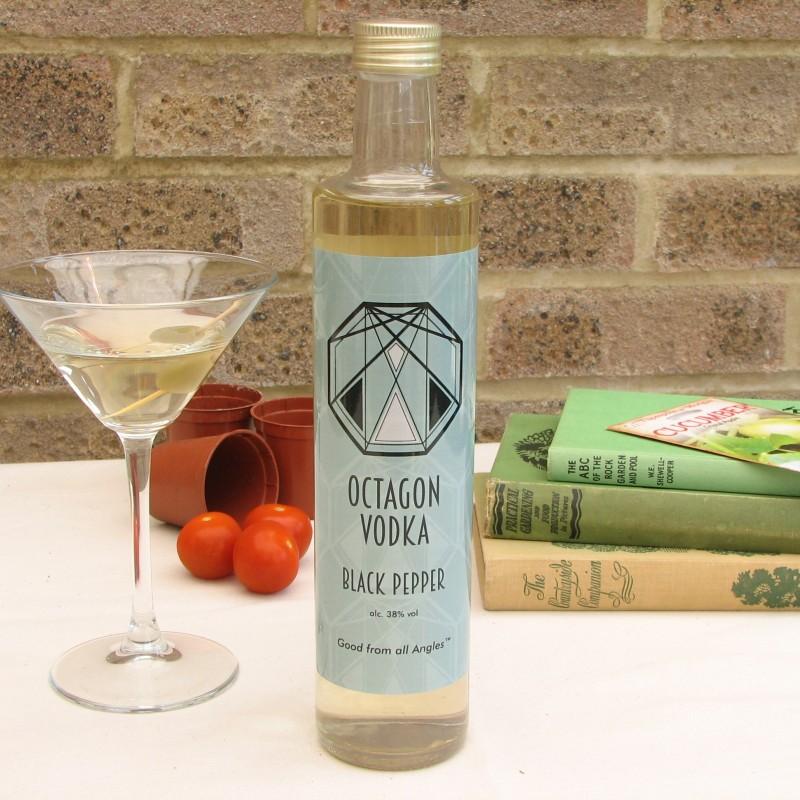 Black Pepper Octagon Vodka 38% 100ml & 250ml