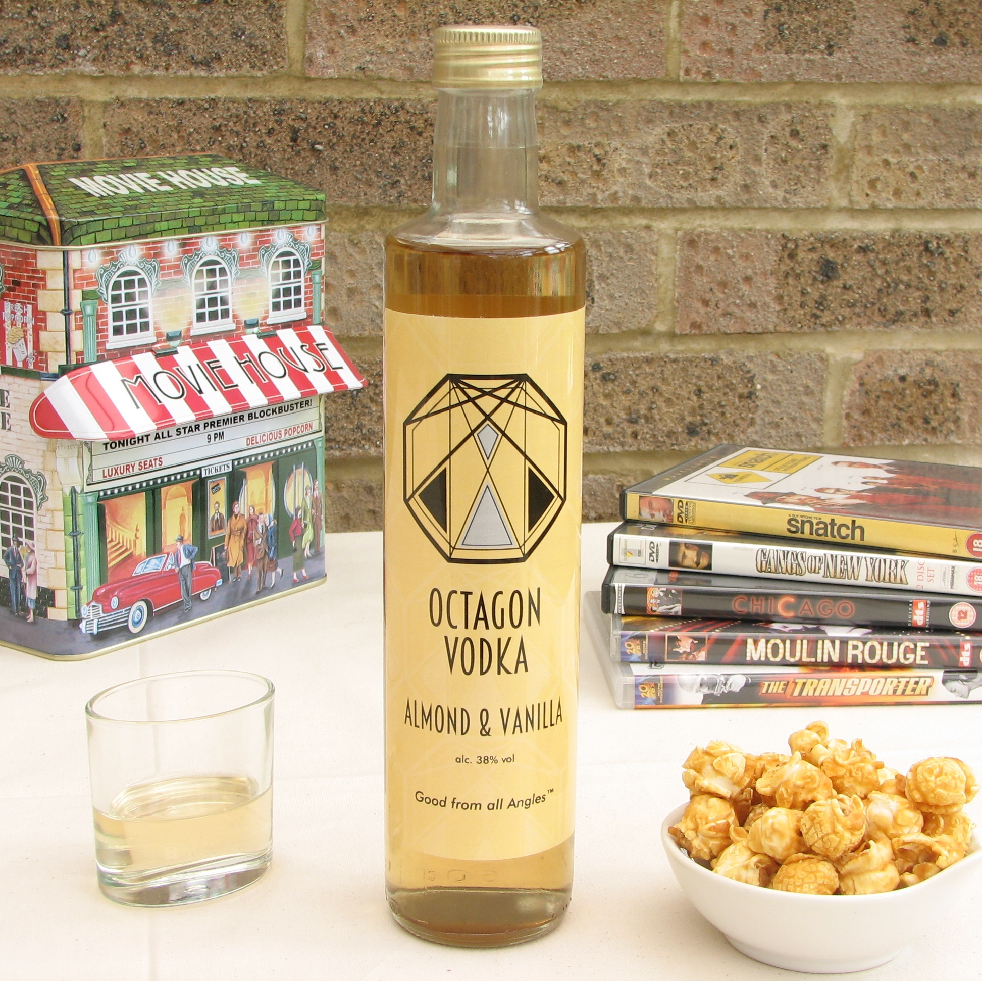 Almond & Vanilla Octagon Vodka 38% 100ml & 250ml