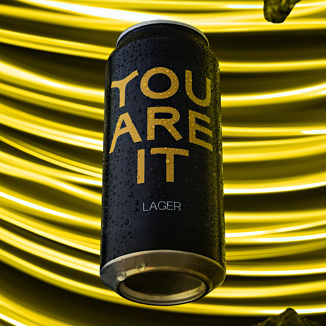 YOU ARE IT: LAGER 4.5% 440ml Three Hills Brewing