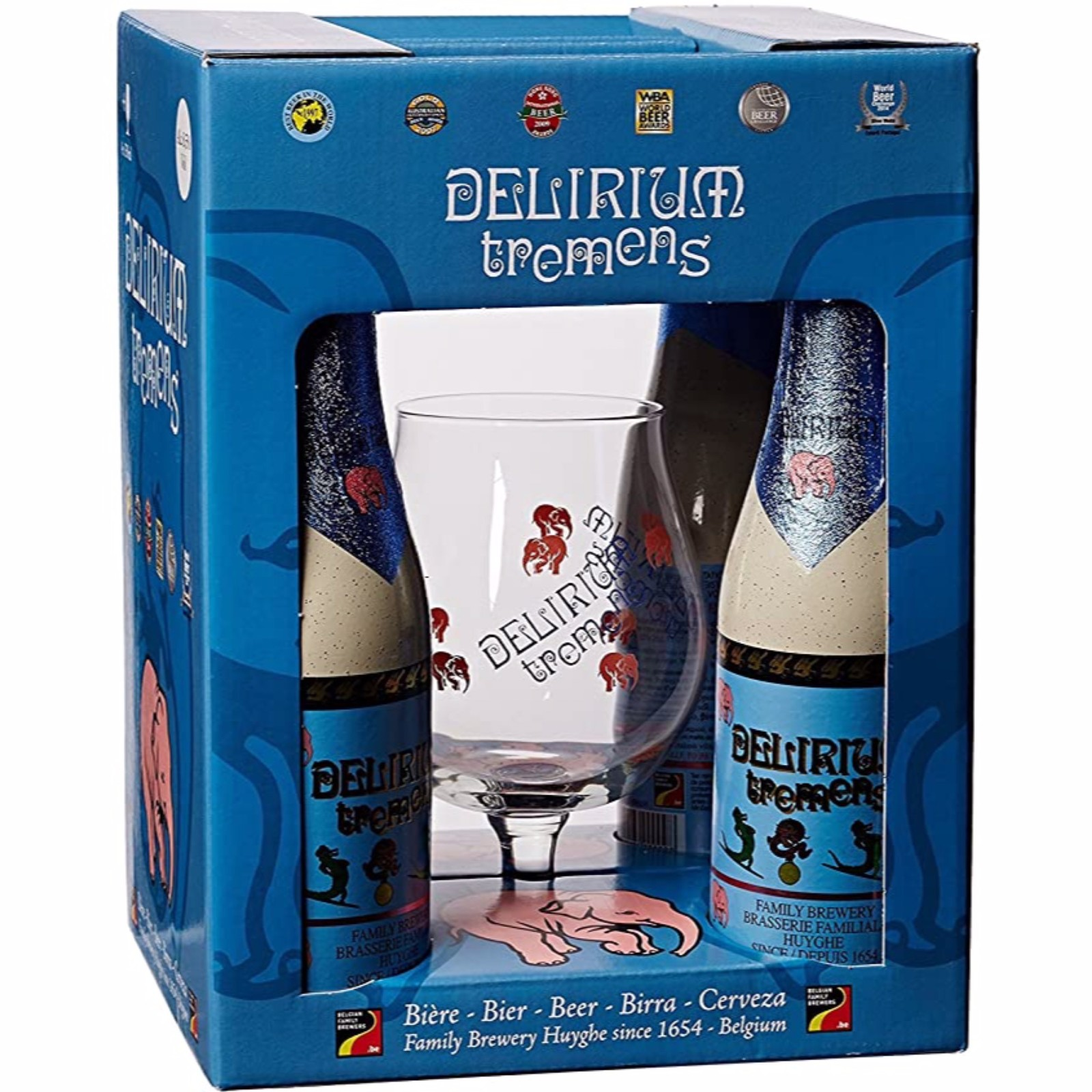 Delirium Tremens Gift Pack 4x330ml with Glass