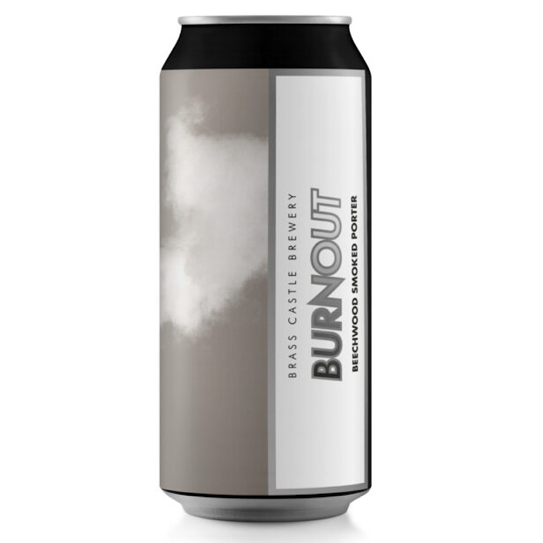 Burnout - Gluten Free Smoked Porter 5.8% 440ml Brass Castle Brewery