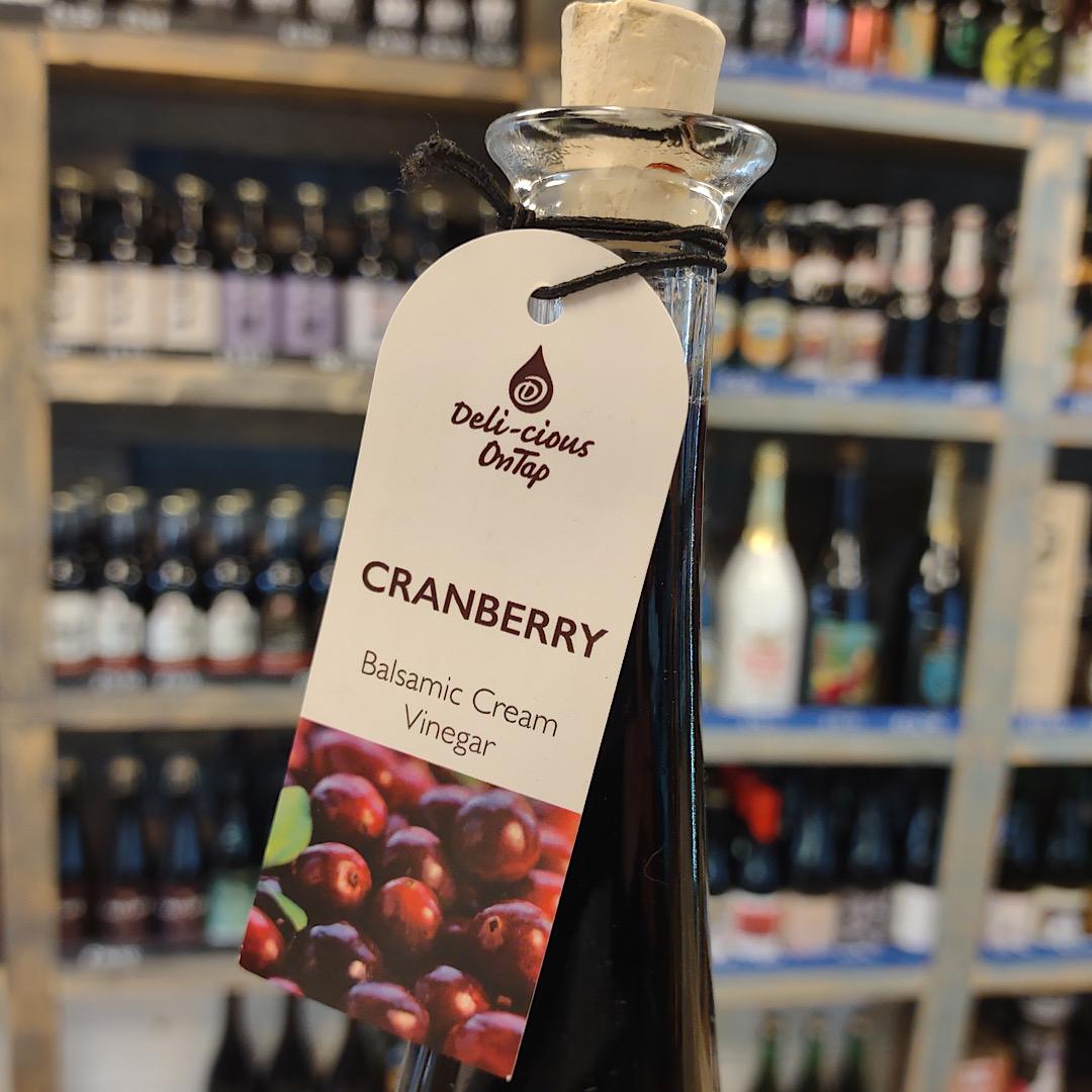 Cranberry Balsamic Cream Vinegar 100ml bottle - Barrel Aged Balsamic Vinegar From Modena