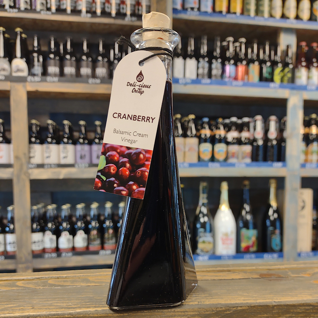 Cranberry Balsamic Cream Vinegar 100ml bottle - Barrel Aged Balsamic Vinegar From Modena