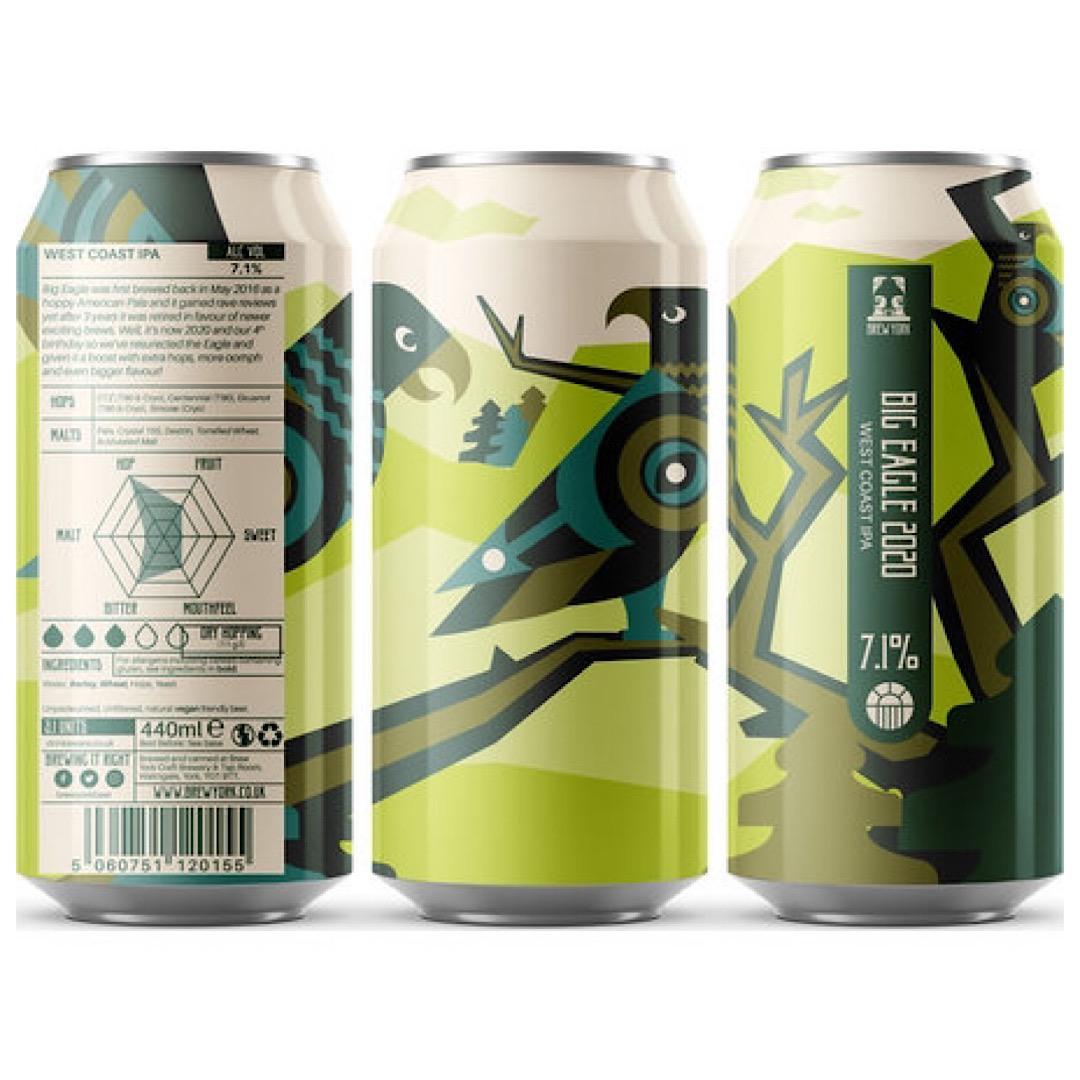 Big Eagle 2020 - West Coast IPA 7.1% 440ml Brew York