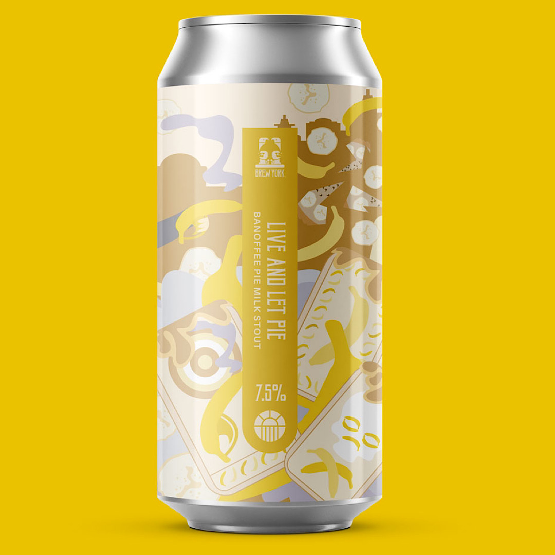 Live and Let Pie - Banoffee Milk Stout 7.5% 440ml Brew York