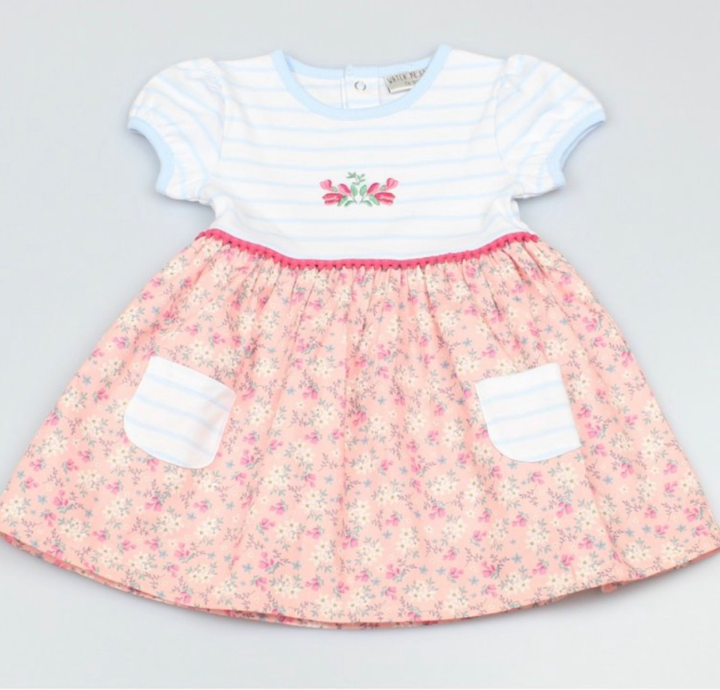 Baby girls floral lined dress
