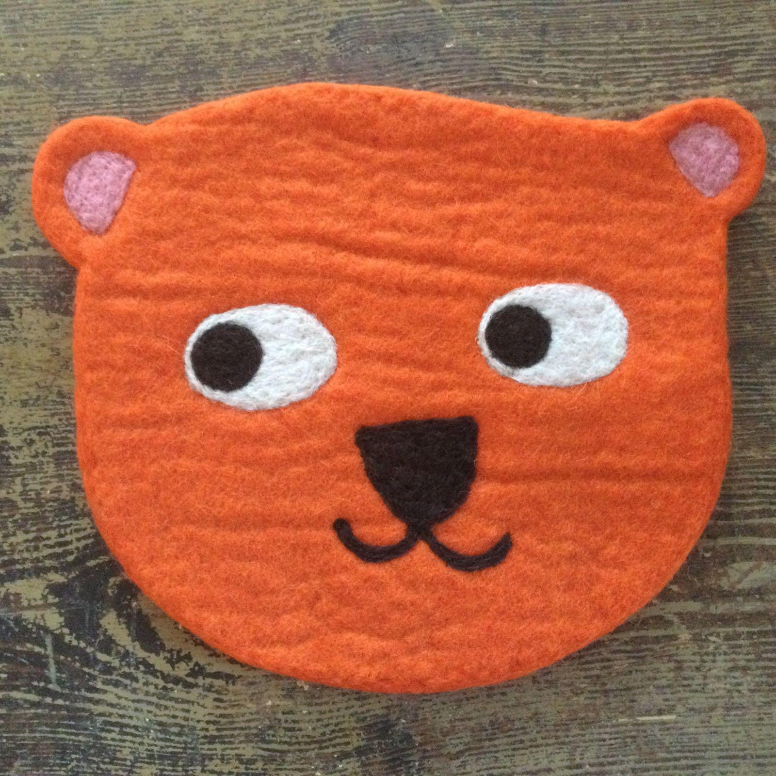 """sitzunterlage """"teddy"""", 100 % wolle, Ø ca. 30 cm, klippan yllefabrik"""