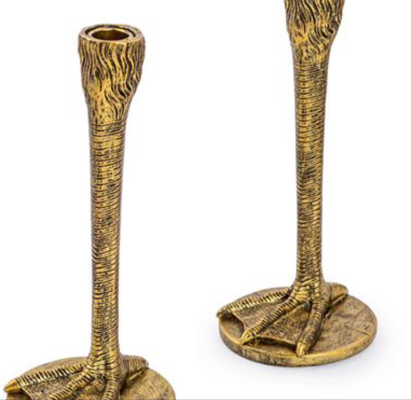 Gold legged Bird candle stick holder