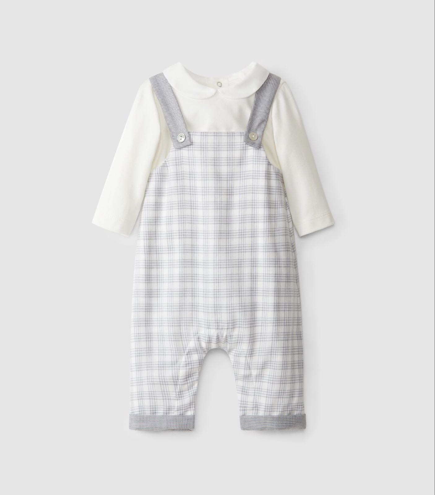 LARANJINHA BABY Two-in-One Dungarees Set 1459