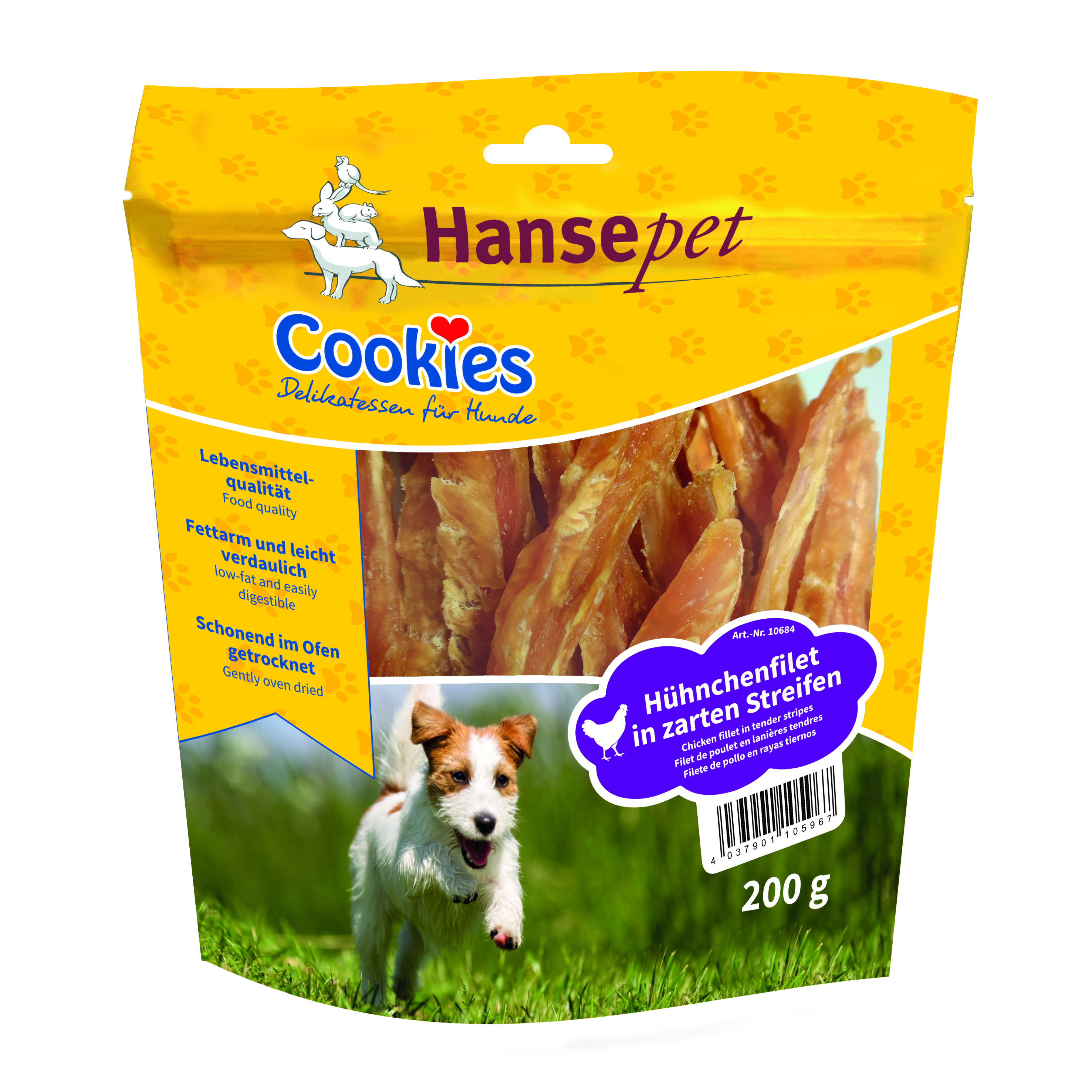 Hühnchenfiletstreifen, Cookies Hansepet
