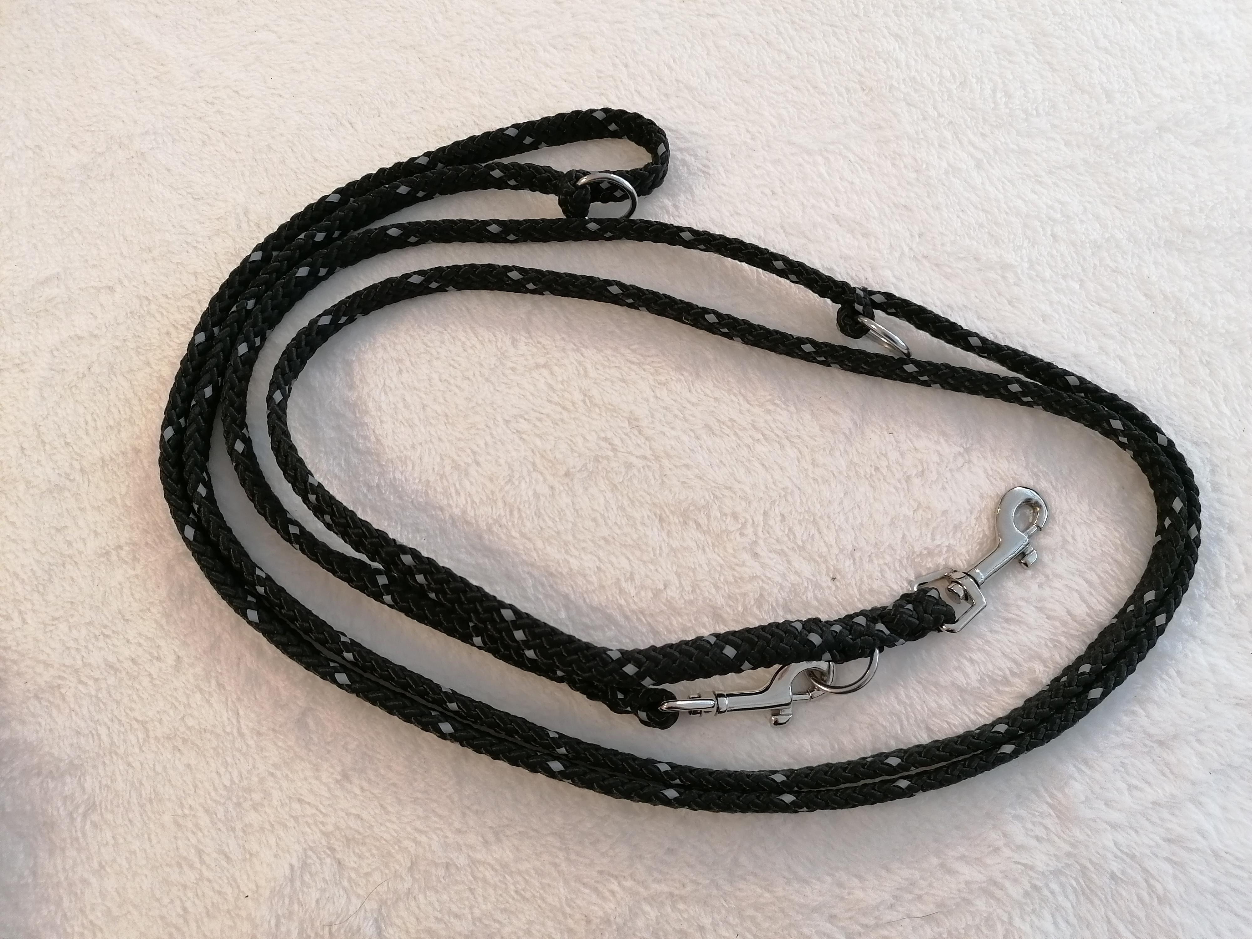 ProSafe gespleißte Hundeleine, 3fach verstellbar, 8mm