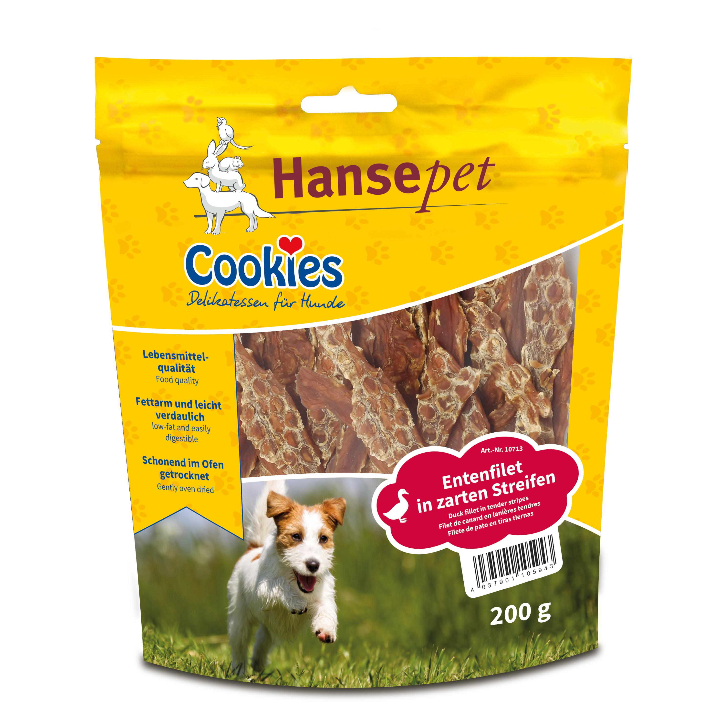Entenfiletstreifen, Cookies Hansepet