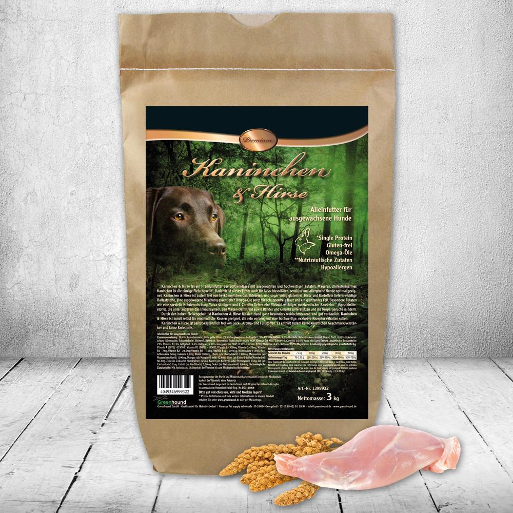 Greenhound Premium Kaninchen & Hirse
