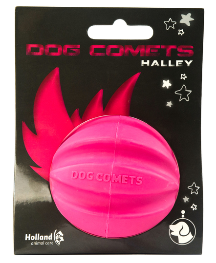 Dog Comets Ball Halley pink