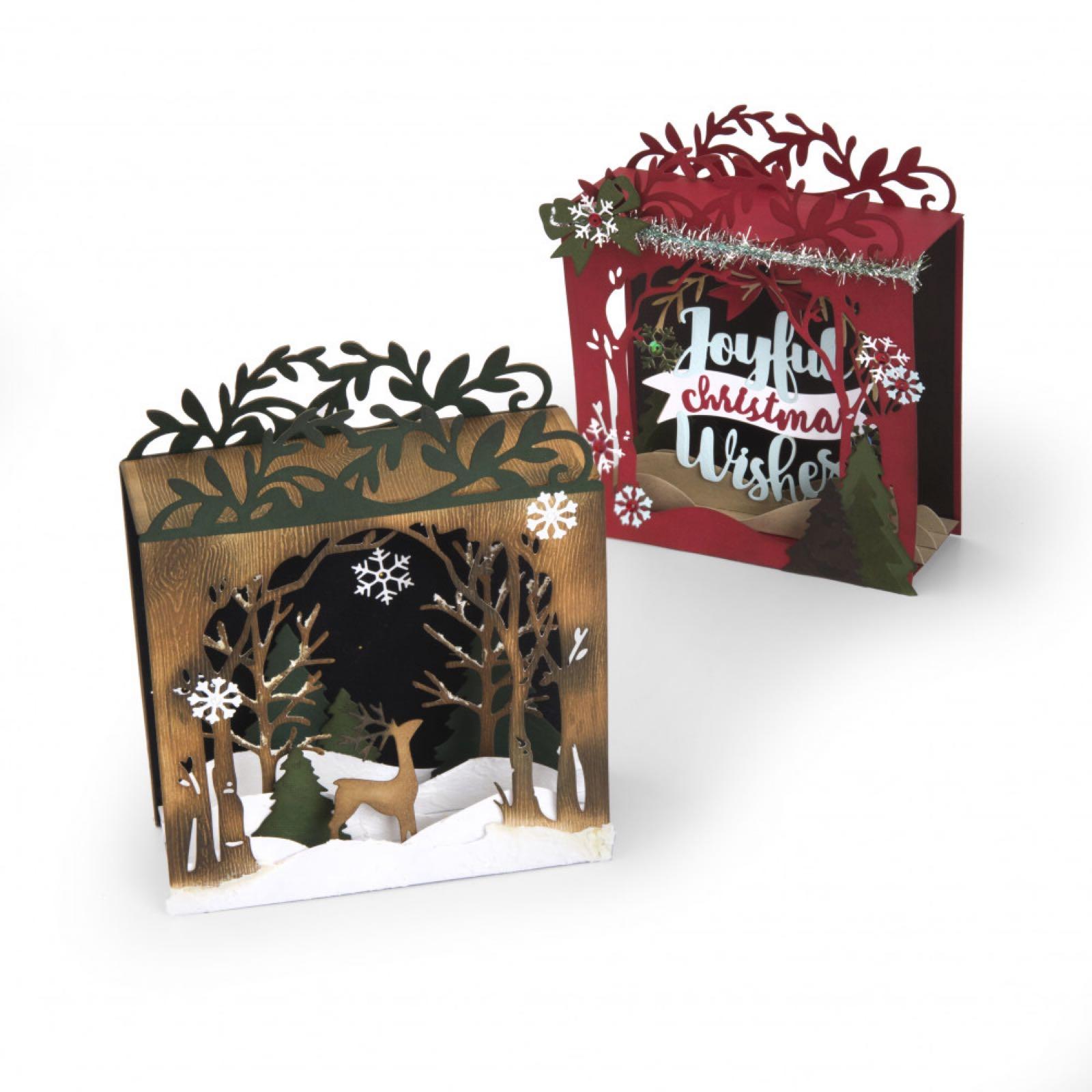 Sizzix thinlits  Holiday  shadow box . 662284 by Katelyn Lizardi