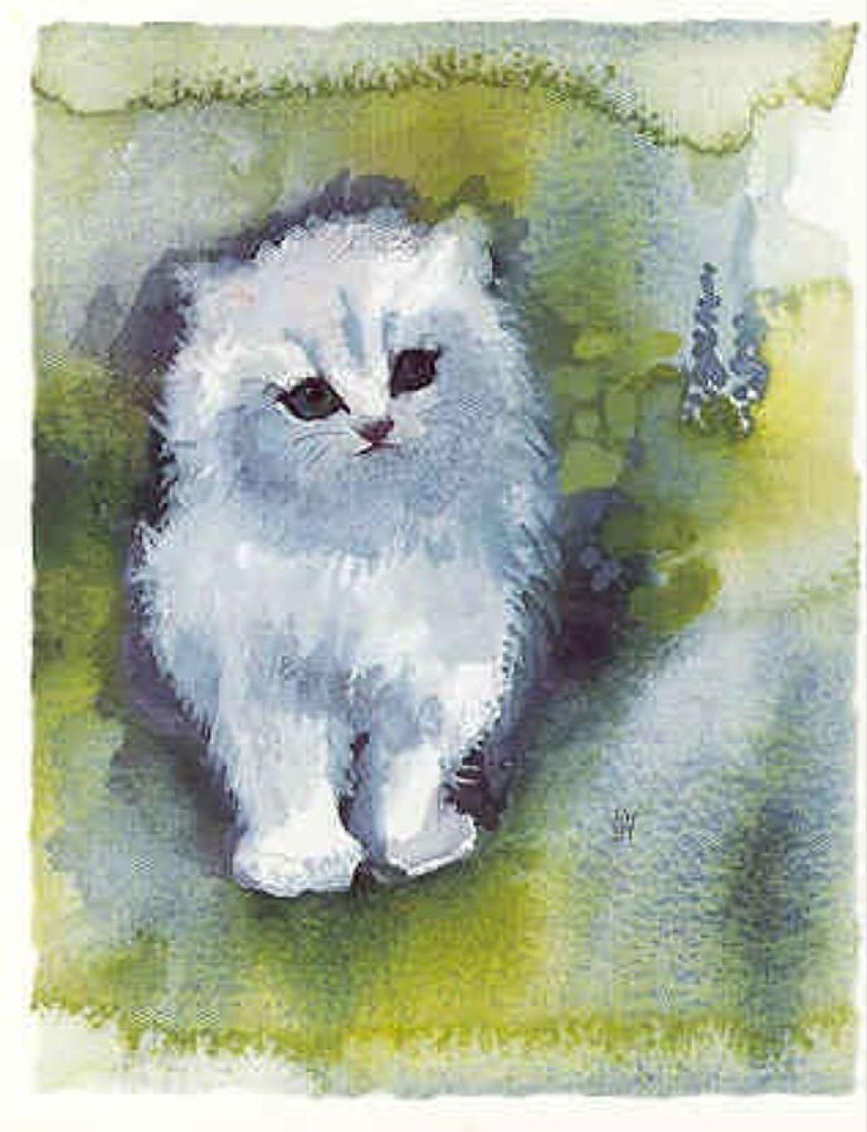 'Kitten' Furzedown Gallery Mini Cards