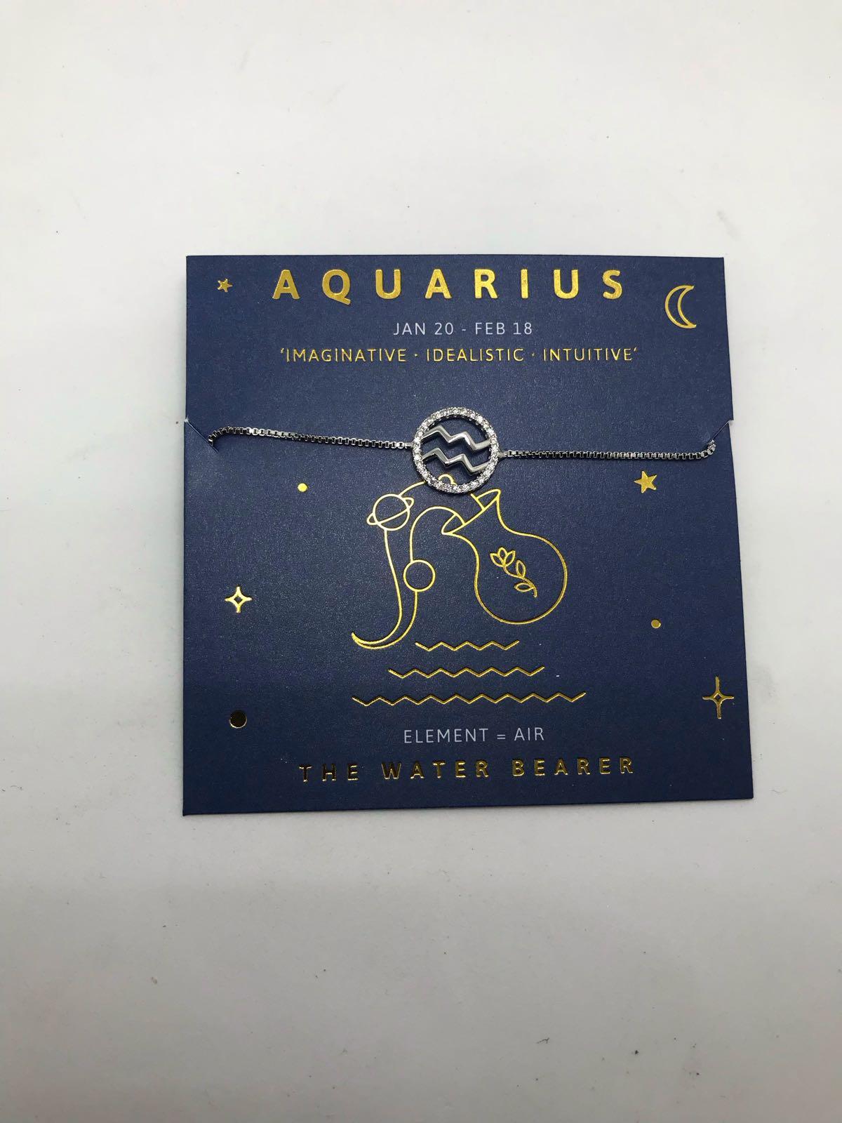 Life Charms Aquarius sign bracelet