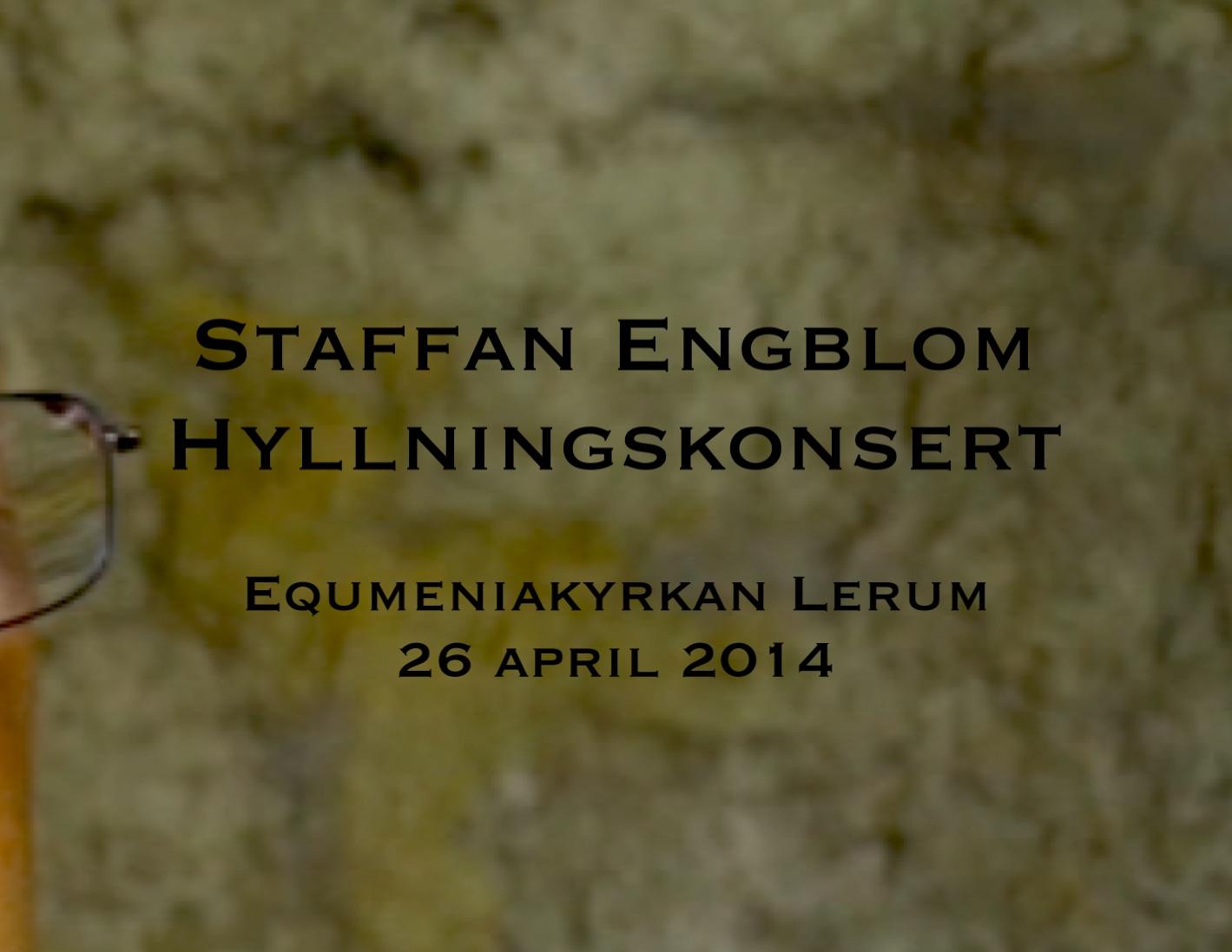 Staffan Engblom hyllningskonsert - DVD