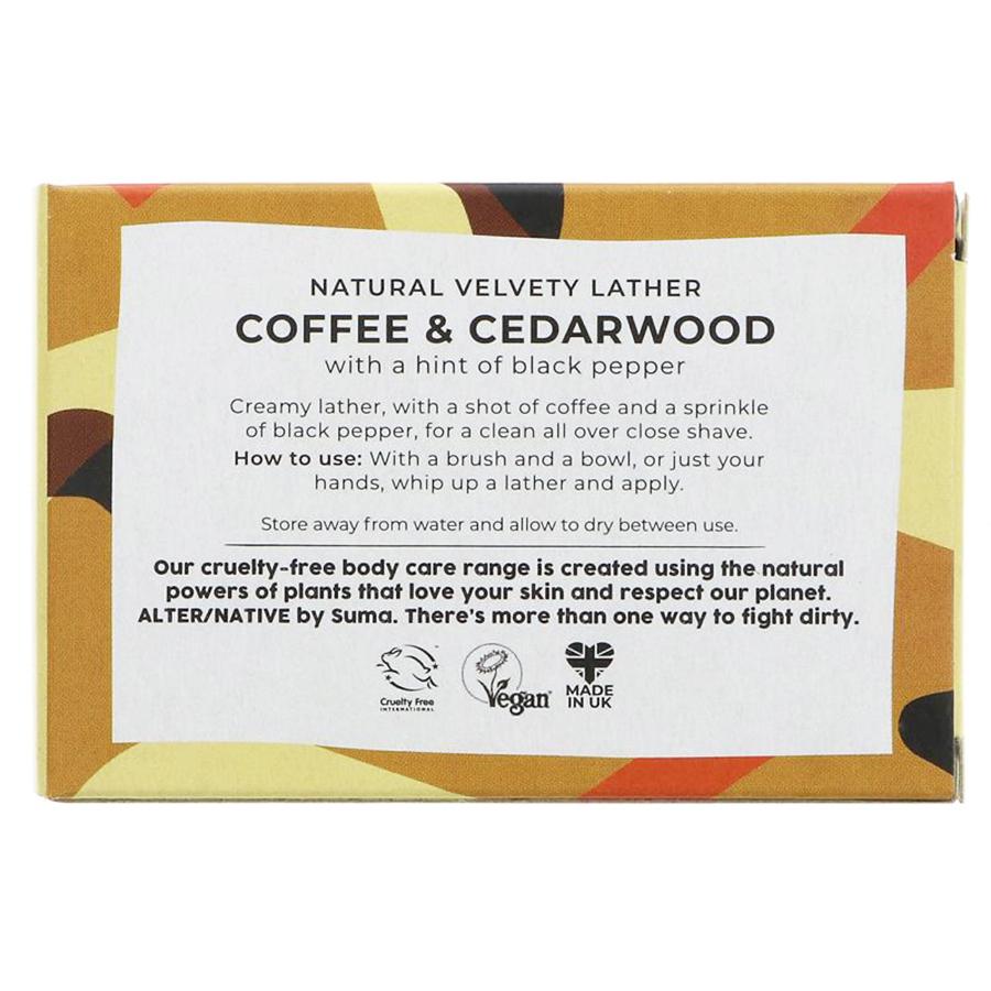 Shaving Soap Coffee & Cedarwood | Alternative