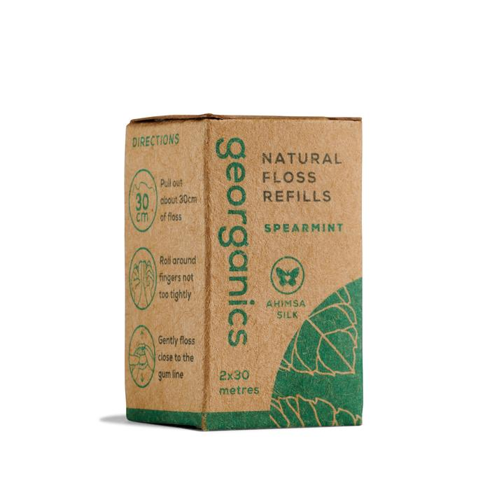 Natural Floss Refills   Spearmint   Georganics