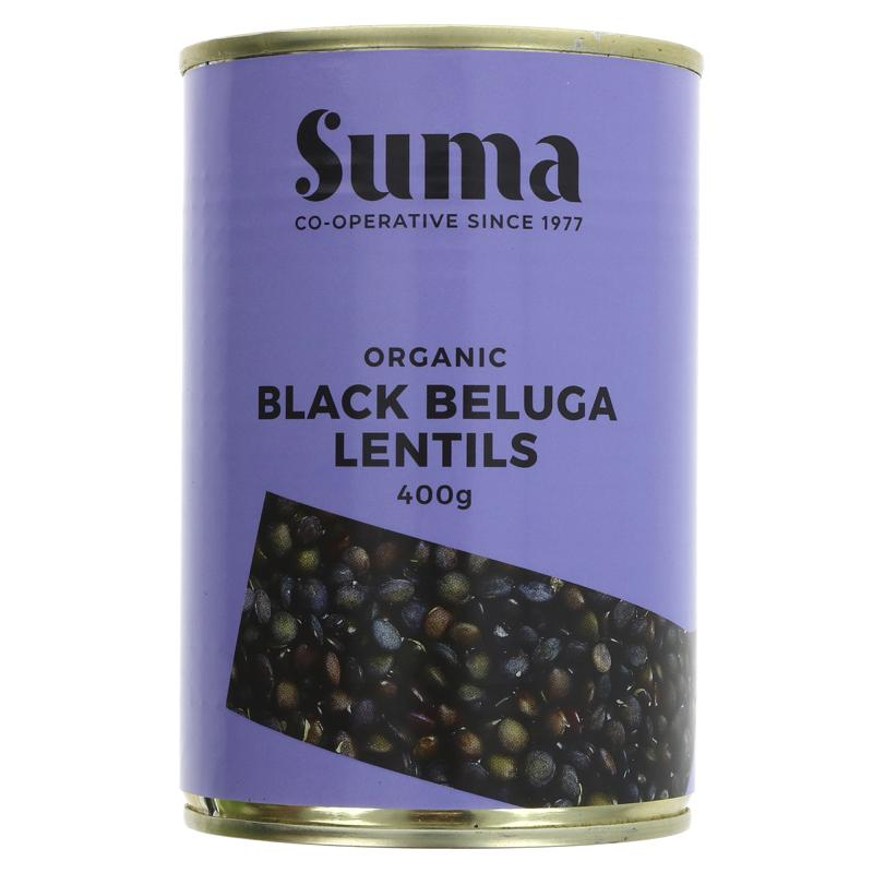 Black Beluga Lentils | Tinned | Organic | Suma