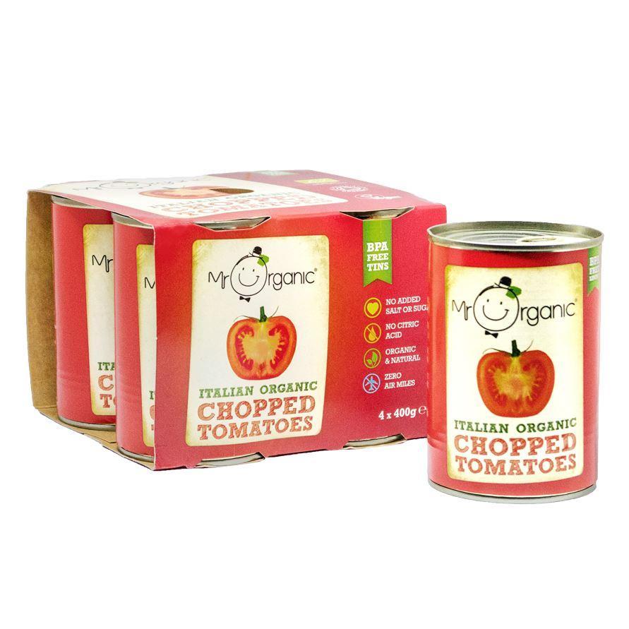 Chopped Tomatoes | Organic | Mr Organic | 4 pack