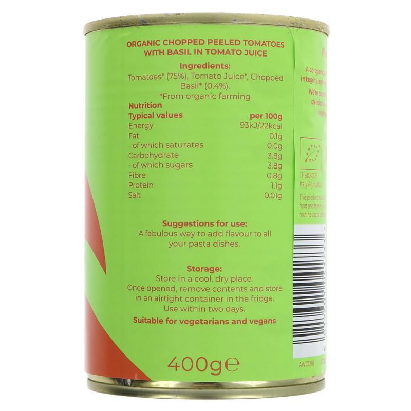 Chopped Tomatoes with Basil | Organic | Suma