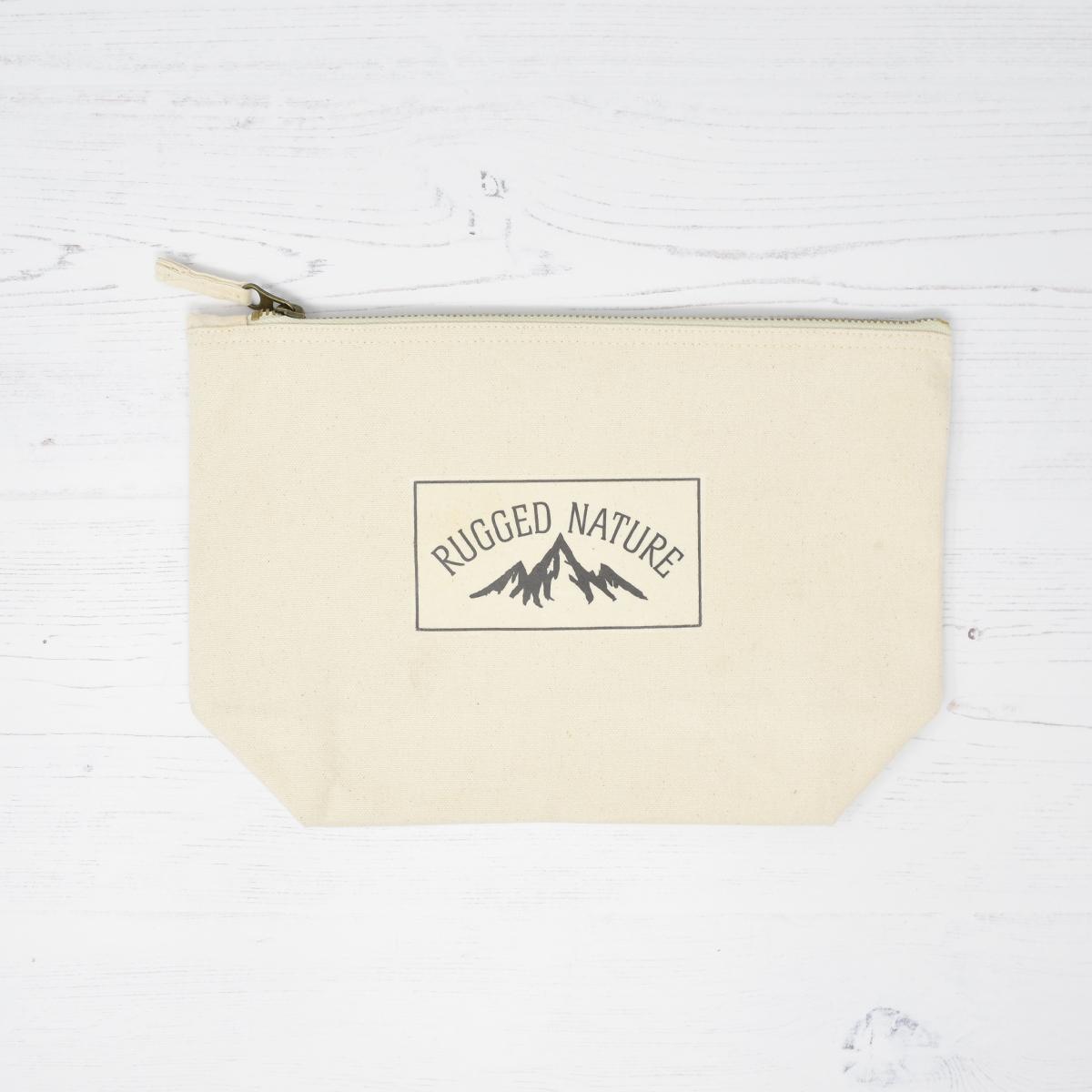 Zipped Canvas Wash Bag | Rugged Nature