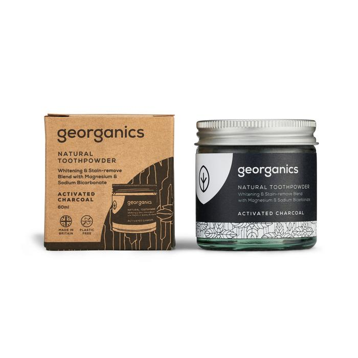 Natural Toothpowder | Activated Charcoal | Georganics