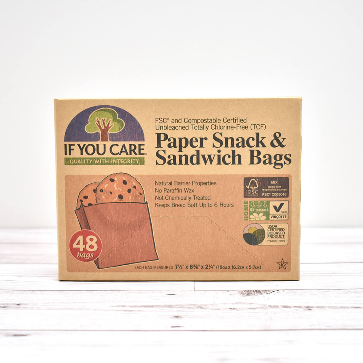 Paper Snack & Sandwich Bags | If You Care