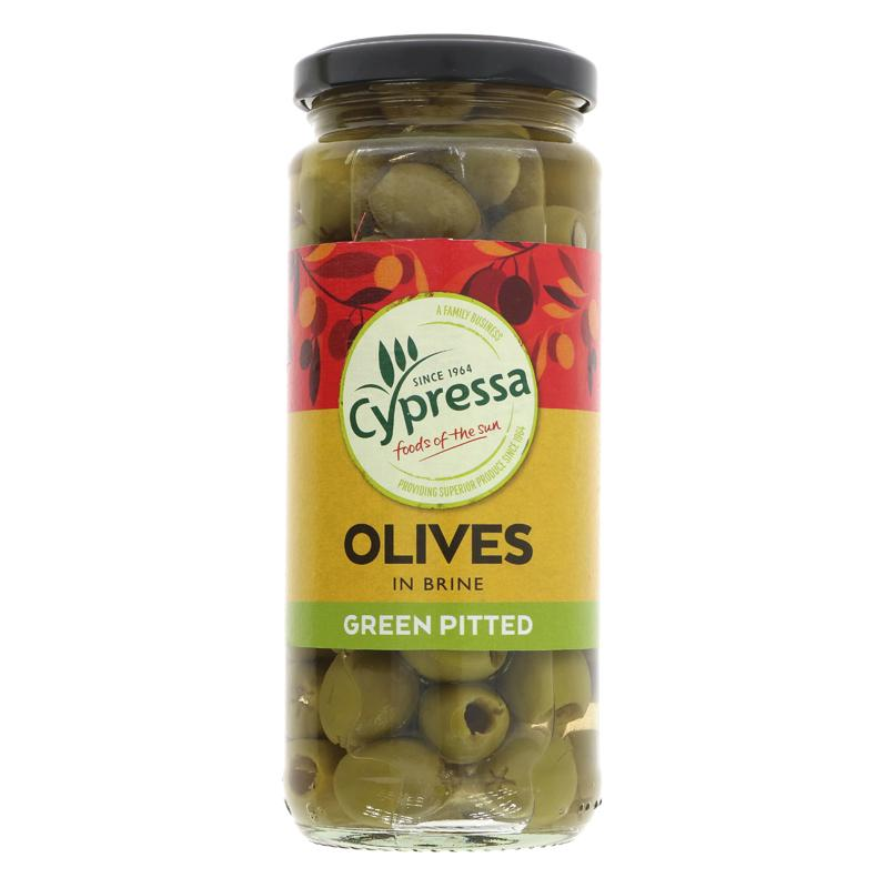 Green Olives | Pitted | Cypressa | 340g