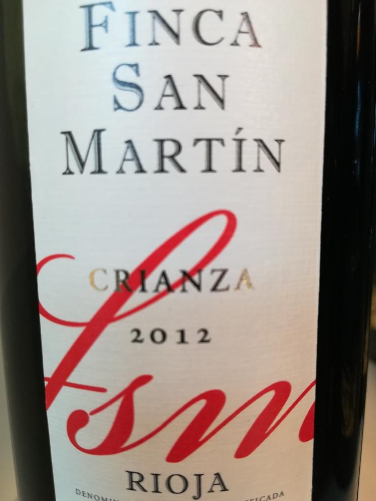 2013 Crianza - Finca San Martin