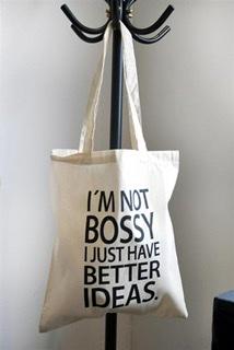 """Mellow Design - Tygkasse """"I'm not bossy"""""""
