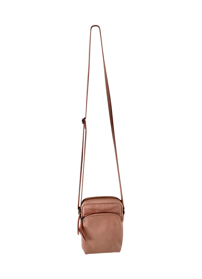 Black Colour - DENISE small leather purse Pink