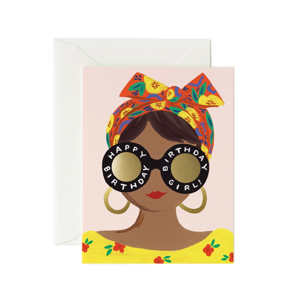 Rifle Paper Co - Scarf Birthday Girl Card