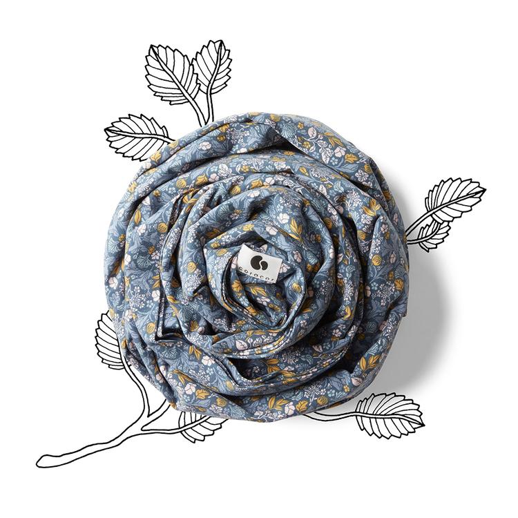 Coracor - Tinyflower Blue Bärsjal
