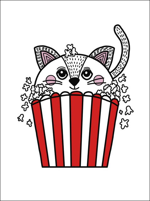 Little Blue Stories - Popcorn Cat