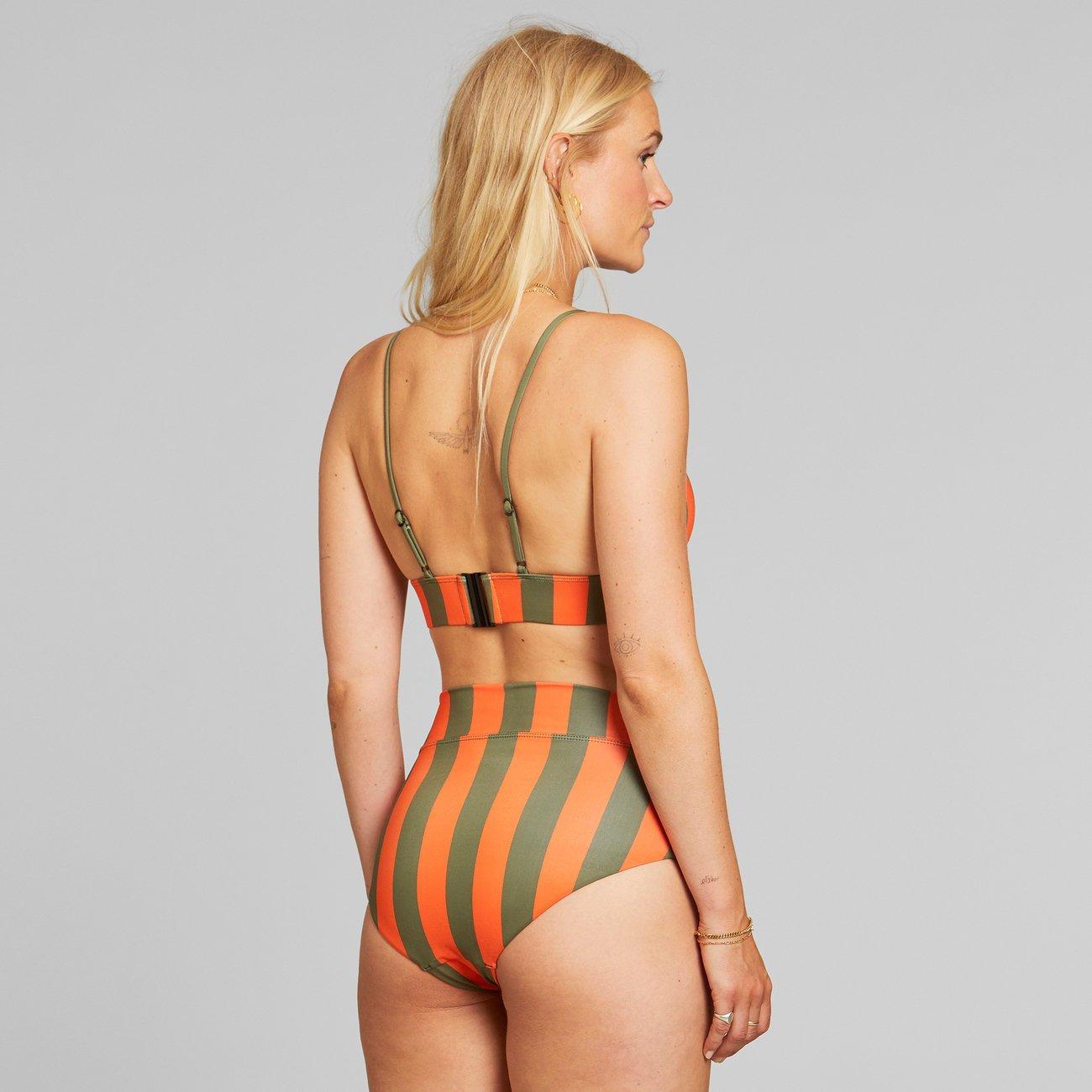Dedicated - Bikini Pants Slite Big Stripes Orange