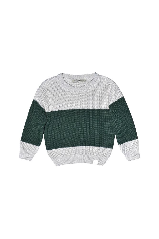 I Dig Denim - Bo block knitted sweater