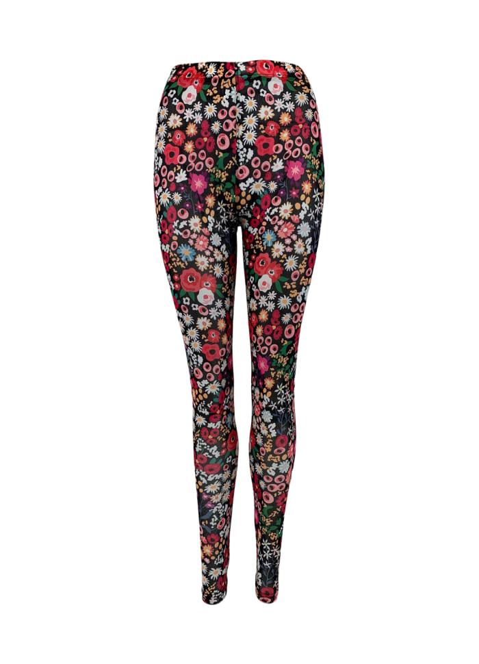 Black Colour - FÖRBOKA FIONA blossom mesh leggings
