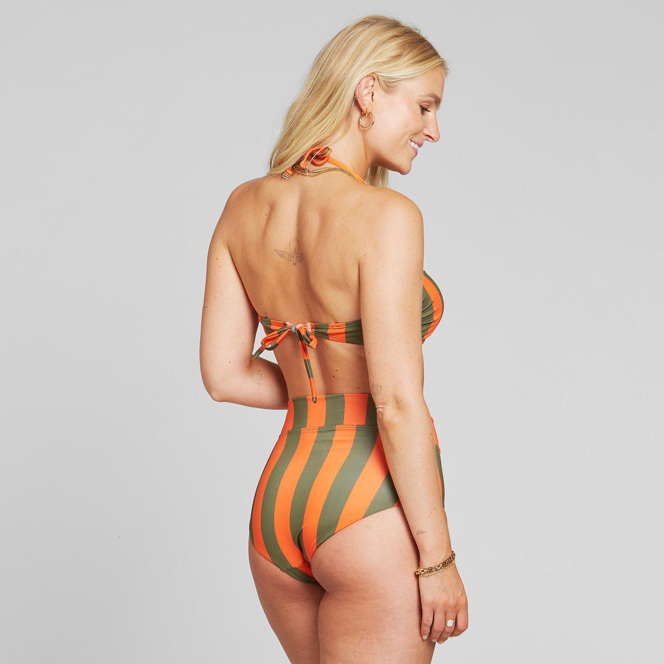Dedicated - Bikini Top Kovik Big Stripe Orange