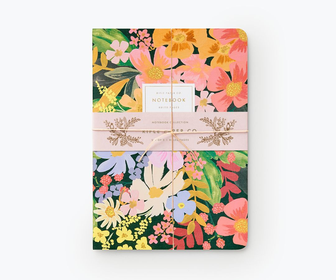 Rifle Paper Co - Set of 3 Marguerite Stitched Notebook Set